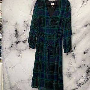 Black Plaid Holiday Dress